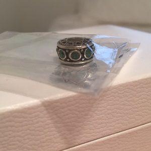 Green emerald Pandora bracelet charm
